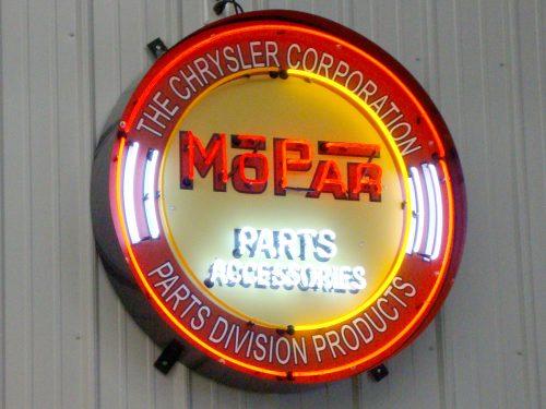 Mopar Neon Sign